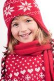 зима портрета девушки Стоковая Фотография RF
