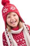 зима портрета девушки Стоковое Фото