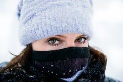 зима портрета девушки Стоковое Изображение