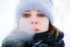 зима портрета девушки Стоковые Изображения RF
