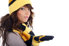 зима портрета девушки Стоковое фото RF