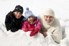 зима портрета семьи Стоковые Фотографии RF