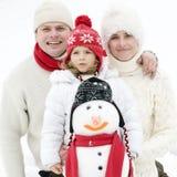 зима портрета семьи Стоковые Фото