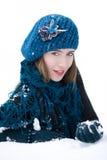 зима портрета способа Стоковое Изображение