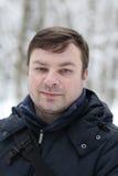 зима портрета человека Стоковые Изображения RF