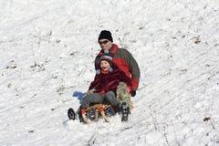 зима потехи sledging Стоковые Изображения
