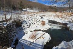 зима потока лужка Стоковое Изображение RF