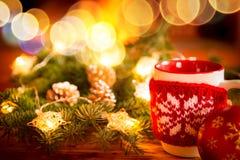 Зима праздника камина Xmas рождества Стоковые Фотографии RF