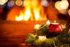 Зима праздника камина Xmas рождества Стоковое Изображение RF