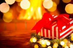 Зима праздника камина Xmas рождества Стоковое Фото