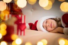 Зима праздника ребенка Xmas рождества Стоковые Изображения RF