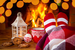 Зима праздника семьи Xmas рождества Стоковые Фотографии RF