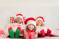 Зима праздника семьи Xmas рождества Стоковое Изображение RF