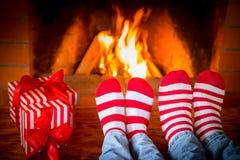 Зима праздника семьи Xmas рождества Стоковые Фото