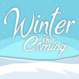 Зима предпосылки зимы приходя изображение вектора Стоковые Изображения