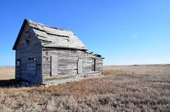 зима прерии дома старая Стоковое фото RF