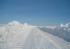 зима привода автомобиля Стоковые Изображения