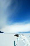 зима пристани baikal старая Стоковая Фотография