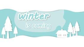 Зима приходит иллюстрация штока
