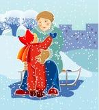 зима прогулки Стоковое Изображение