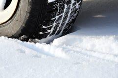 зима профиля шины автомобиля Стоковое Фото