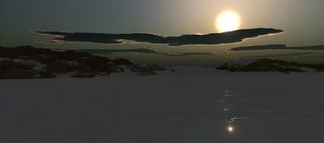 Зима пруда Sillent иллюстрация штока