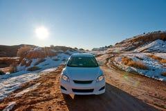 зима пустыни автомобиля Стоковое Фото