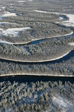 зима реки дня замерзая Стоковые Изображения