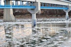 зима реки льда Стоковое Изображение RF