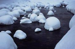 зима реки Стоковое Изображение