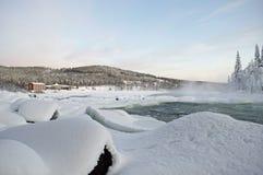 зима реки Стоковые Фото