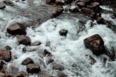 зима речной воды ландшафта льда свободного полета Стоковые Изображения