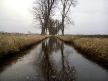 зима речной воды ландшафта льда свободного полета Стоковая Фотография