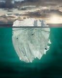 зима речной воды льда Стоковое Изображение
