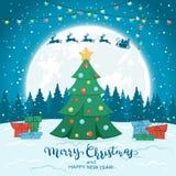 зима рождественской елки предпосылки стоковые фото