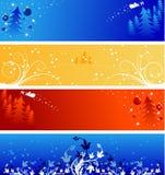 зима рождества знамен Стоковое Изображение RF