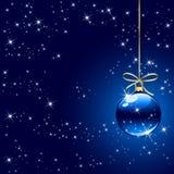 зима рождества шарика предпосылки голубая Стоковая Фотография RF