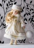 Зима Рождество Грациозно девушка снега год кануна новый s Стоковые Изображения RF