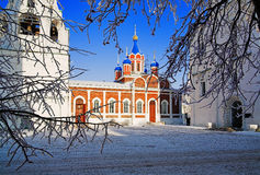 зима России kolomna церков Стоковое Фото