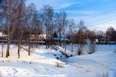Зима Россия, Uglich стоковая фотография