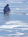 зима рыболовства Стоковое фото RF