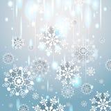 зима сбора винограда снежинок предпосылки Бесплатная Иллюстрация