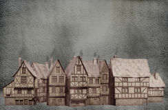 зима села бесплатная иллюстрация