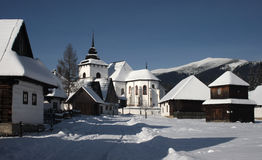 зима села Стоковые Фото