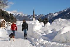 зима семьи стоковое изображение rf