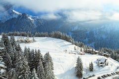 зима села ландшафта русская Стоковая Фотография