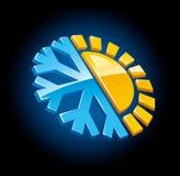 зима символа лета иконы климата Стоковые Изображения RF