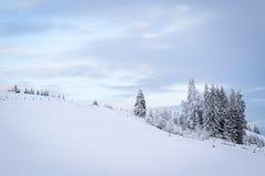 зима сказа снежка красивейшей пущи красная s коттеджа финской Стоковое Изображение RF
