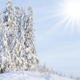 зима сказа снежка красивейшей пущи красная s коттеджа финской Стоковое фото RF