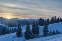 зима сказа снежка красивейшей пущи красная s коттеджа финской Стоковая Фотография RF